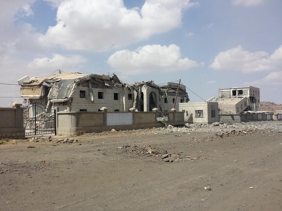 قصف-العدوان-لمباني-جامعة-صعدة